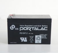 【保証書付き】PORTALAC 台湾GS・UPS・無停電電源装置・蓄電器用バッテリー小型シール鉛蓄電池[12V7.2Ah] PE12V7.2