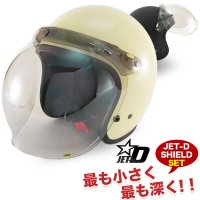 DAMMTRAX JET-D for Men ジェットヘルメット JCBN開閉シールドSET (パールアイボリー) ダムトラックス ジェットヘルメット PSC/SG規格適合 全排気量対象商品<img class='new_mark_img2' src='//img.shop-pro.jp/img/new/icons15.gif' style='border:none;display:inline;margin:0px;padding:0px;width:auto;' />