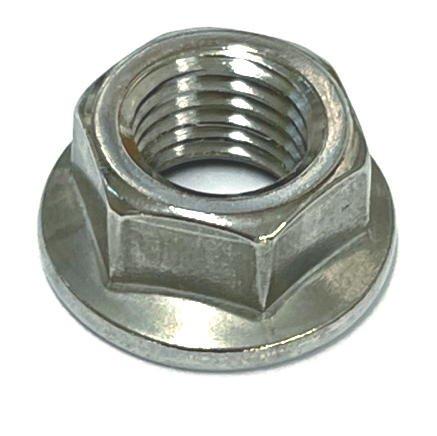 鉄フランジナット(セレート付)M6 ユニクロメッキ