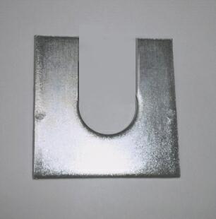 鉄 ユニクロメッキ 調整用U字角座金 M8X26X2.3t バラ20枚~