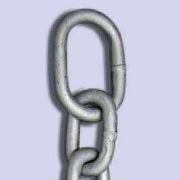 とられん鎖(さ) 末端リング付 φ10X5m(保護チューブ無) DFC-10-5