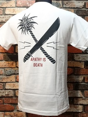us versus them アスバーサスゼム  ポケットTシャツ (CROSSCUT POCKET)  カラー:ホワイト