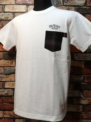 og classix オージークラッシックス  7.1ozポケット付きTシャツ (original script pocket tee)  カラー:ホワイト