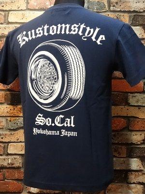 kustomstyle カスタムスタイル Tシャツ (KST1610IND) ks 30spoke  カラー:インディゴブルー