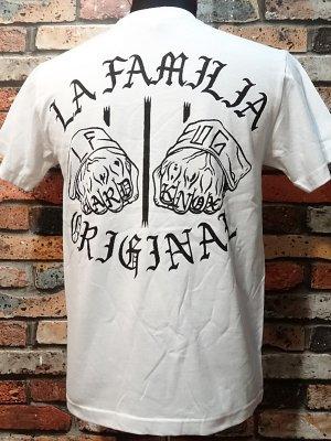 la familia original ラ ファミリアオリジナル  Tシャツ (HARD KNOCKS) カラー:ホワイト
