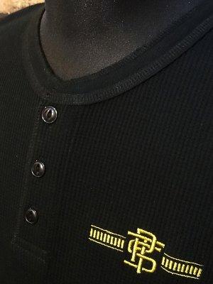 parasite パラサイト サーマル ヘンリーネック ロングスリーブTシャツ (PST) カラー:ブラック