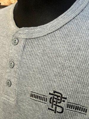 parasite パラサイト サーマル ヘンリーネック ロングスリーブTシャツ (PST) カラー:グレー