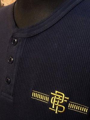 parasite パラサイト サーマル ヘンリーネック ロングスリーブTシャツ (PST) カラー:ネイビー