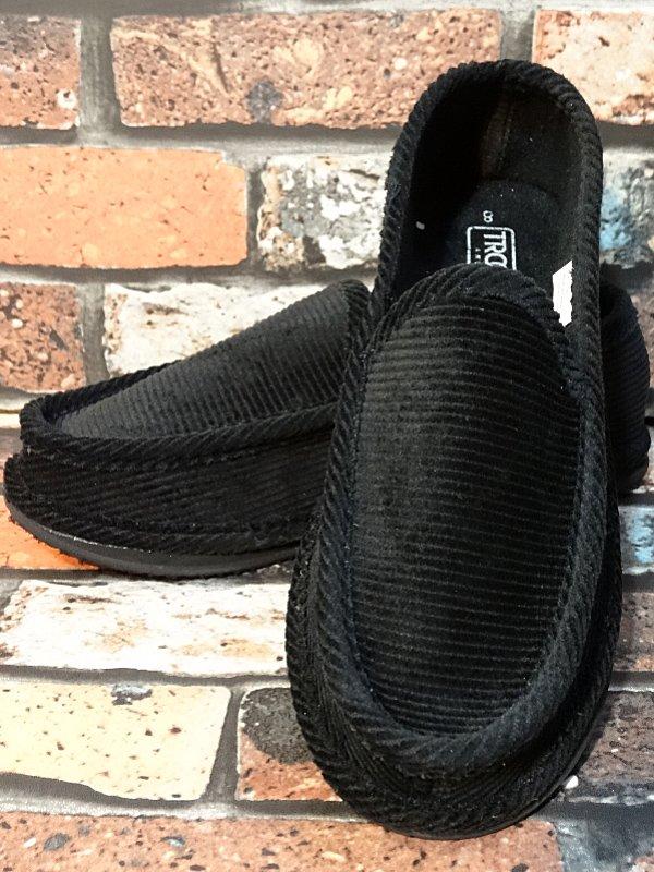trooper ハウスシューズ コーディロイ slip on shoes  カラー:ブラック