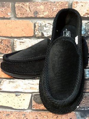 ハウスシューズ コーディロイ slip on shoes  カラー:ブラック