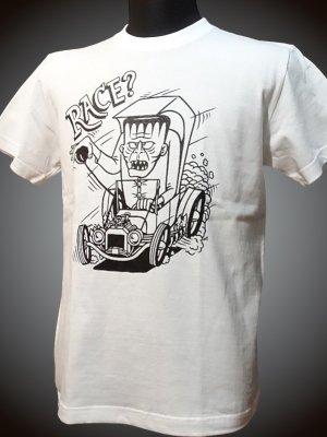 steel-hot rod wear スティール Tシャツ (STL-C044) grimb design カラー:ホワイト