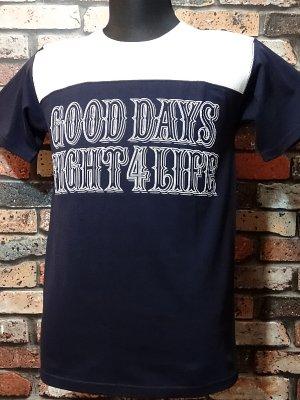 parasite パラサイト 7.1ozTシャツ pst football  カラー:ネイビー