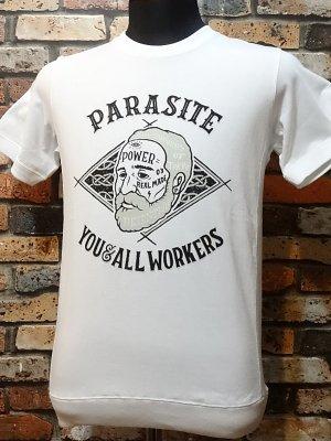 parasite パラサイト 7.1ozサイドパネルTシャツ OLD MAN  カラー:ホワイト