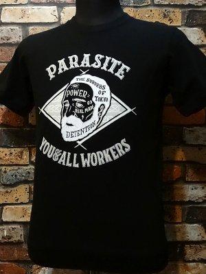 parasite パラサイト 7.1ozサイドパネルTシャツ OLD MAN  カラー:ブラック