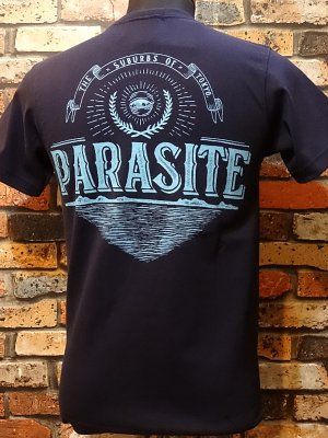 parasite パラサイト 7.1ozポケット付Tシャツ PST  カラー:ネイビー