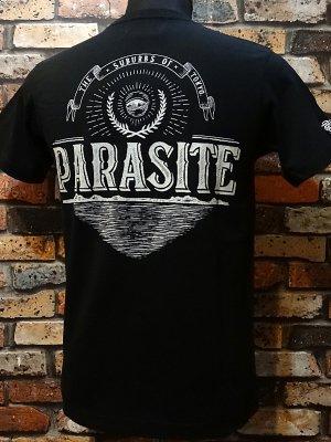 parasite パラサイト 7.1ozポケット付Tシャツ PST  カラー:ブラック