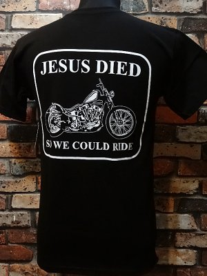 hard luck ハードラック  Tシャツ (Jesus Died 2) カラー:ブラック