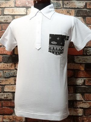 OG Classix オージークラッシックス  ポロシャツ ボタンダウンタイプ  rainbow bandana polo shirts  カラー:ホワイト