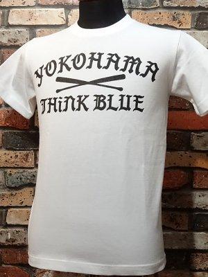 kustomstyle カスタムスタイル Tシャツ (KST1620WH) think blue  カラー:ホワイト