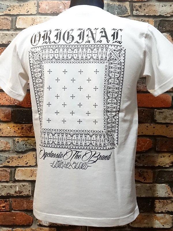 og classix オージークラッシックス  7.1ozポケット付きTシャツ (cross bandana pocket tee)  カラー:ホワ…