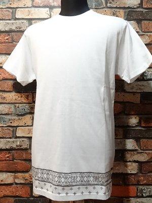 kustomstyle カスタムスタイル  ロング丈Tシャツ (KST0903WHLONG) bandana hem long length  カラー:ホワイト