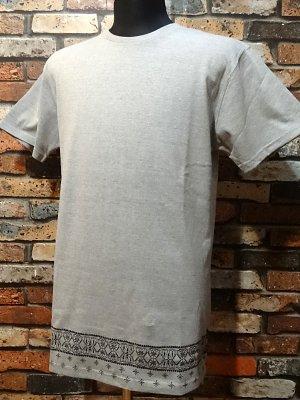 kustomstyle カスタムスタイル  ロング丈Tシャツ (KST0903GYLONG) bandana hem long length  カラー:グレー