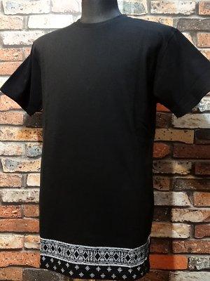 kustomstyle カスタムスタイル  ロング丈Tシャツ (KST0903BKLONG) bandana hem long length  カラー:ブラック