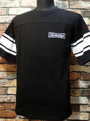 kustomstyle カスタムスタイル  フットボールTシャツ (KST1615BKFOOT) F-stone football 1/2sleve カラー:ブラック