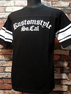 kustomstyle カスタムスタイル  フットボールTシャツ (KST1602BKFOOT) la troca logo football 1/2sleve カラー:ブラック