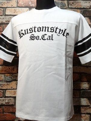 kustomstyle カスタムスタイル  フットボールTシャツ (KST1602WHFOOT) la troca logo football 1/2sleve カラー:ホワイト