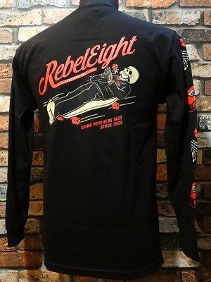 rebel8 レベルエイト ロングスリーブTシャツ  nowhere fast  カラー:ブラック