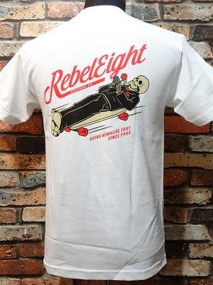 rebel8 レベルエイト Tシャツ  nowhere fast  カラー:ホワイト