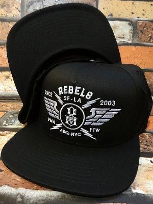 rebel8 レベルエイト スナップバック キャップ  strike twice snapback  カラー:ブラック