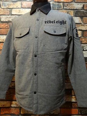 rebel8 レベルエイト シャツジャケット born to die jacket  カラー:グレー