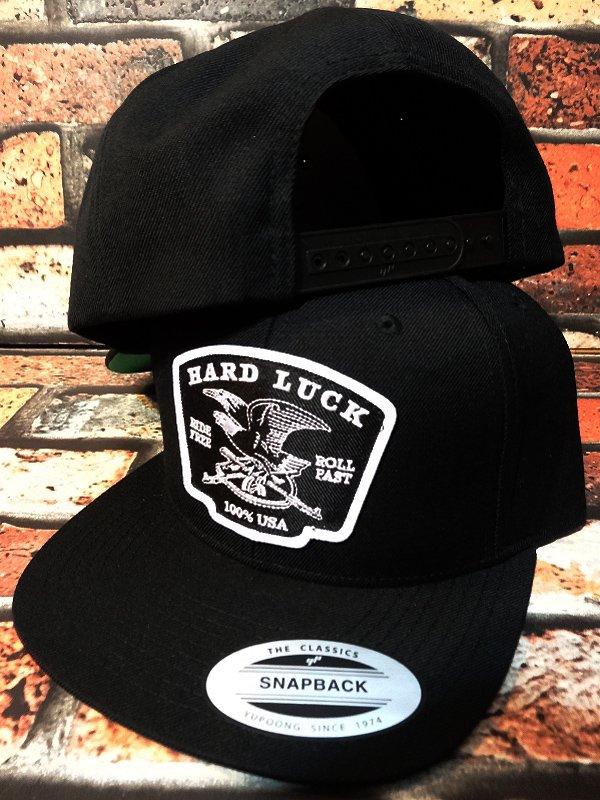 hard luck ハードラック スナップバックキャップ  (EAGLE) snapback cap カラー:ブラック