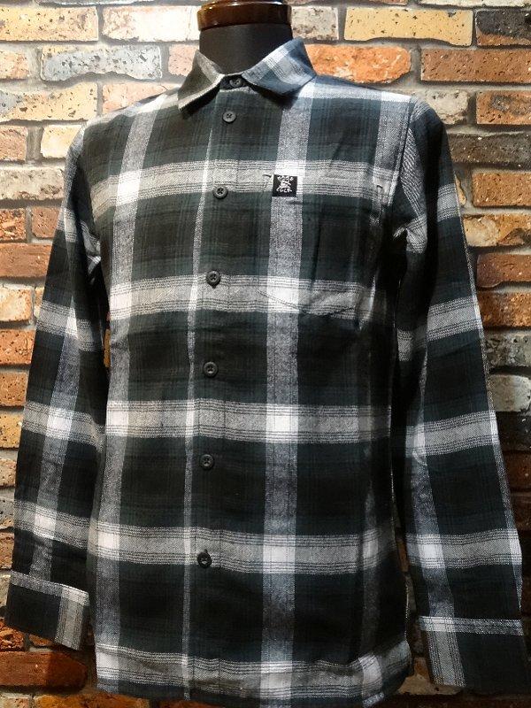 hard luck ハードラック  長袖フランネル チェックシャツ (HL OG LOGO FLANNEL SHIRTS)  カラー:グリー…