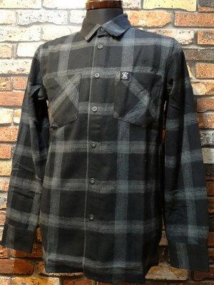 HARD LUCK ハードラック  長袖フランネル チェックシャツ (HL OG HEAVY WEIGHT FLANNEL SHIRTS)  カラー:グレー系