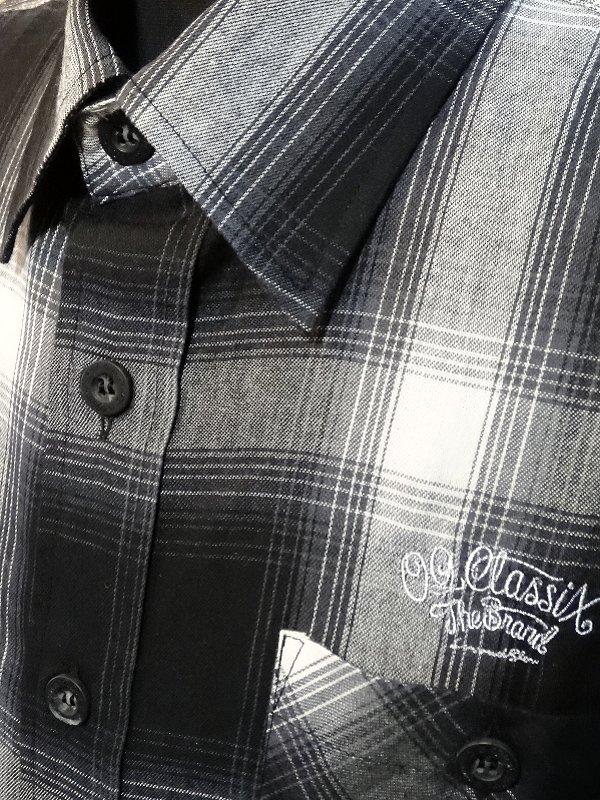 OG Classix オージークラッシックス 長袖チェックシャツ (VENICE BLVD FLANNEL SHIRTS) カラー:ブラック