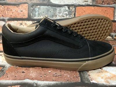 vans バンズ  シューズ  OLD SKOOL REISSUE COATED    カラー:ブラックxガム