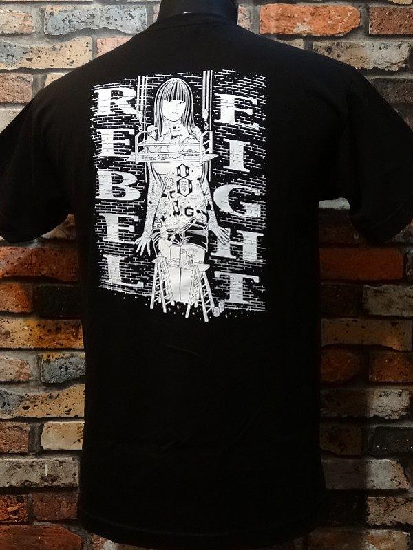 rebel8 レベルエイト Tシャツ  hit the walls  カラー:ブラック