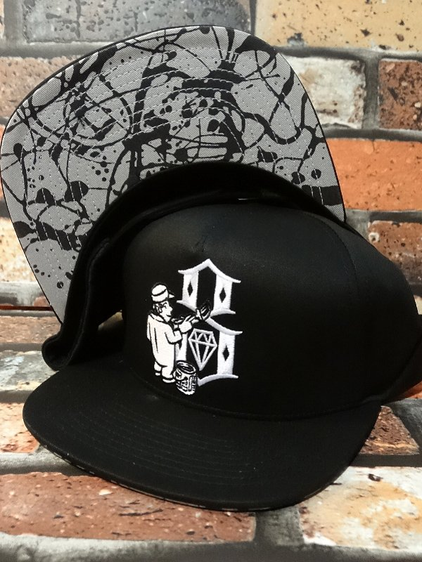 rebel8 レベルエイト スナップバック キャップ  hit the walls snapback  カラー:ブラック