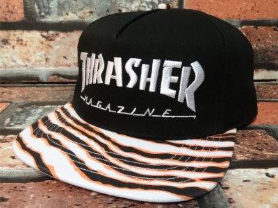 thrasher スラッシャー THRASHER スラッシャー スナップバックキャップ (TIGER STRIPE