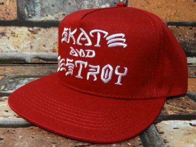 thrasher スラッシャー THRASHER スラッシャー スナップバックキャップ (SAD  SNAPBACK CAP)  カラー:レッド