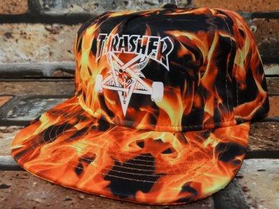 thrasher スラッシャー THRASHER スラッシャー スナップバックキャップ (SPOT LIMITED EDITION  SNAPBACK CAP)  限定品