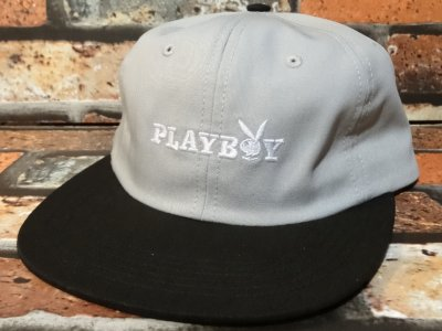 GOODWORTH グッドワースx PLAYBOY  キャップ (BUNNY TEXT  CAP) カラー:グレー