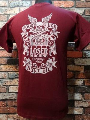 LOSER MACHINE ルーザーマシーン Tシャツ (Pinnacle Tee) カラー:バーガンディー