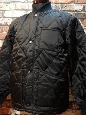 HOUSTON ヒューストン キルティングジャケット (CWU-9P) 中綿サーモライト使用   カラー:ブラック