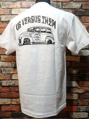 us versus them アスバーサスゼム  Tシャツ   カラー:ホワイト