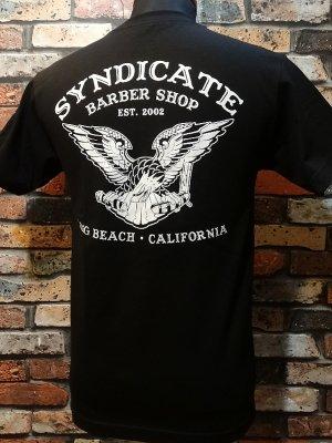 SYNDICATE BARBER SHOP シンジケートバーバーショップ  Tシャツ   カラー:ブラック