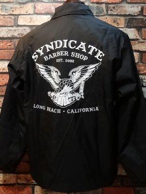 SYNDICATE BARBER SHOP シンジケートバーバーショップ  コーチジャケット   カラー:ブラック